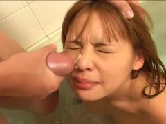 Small tit Asian hairy vagina felt out!