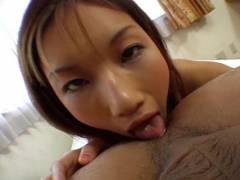 Maria Fujisawa licks butt and sucks prick