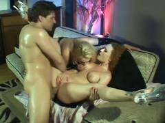 Hotties Taking Turns On a Joy stick