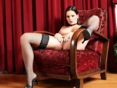 Eve Angel Posing In Stockings