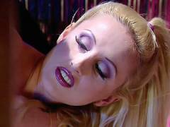 Blonde in Lingerie Exposes Her Wet Spot