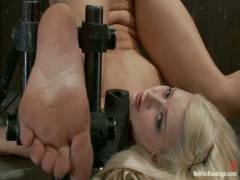 Device Bondage: Hot Blonde Anikka Albright's First Bondage Shoot Ever