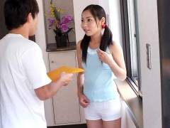 Home alone Lulu Kinouchi is drilled big time