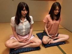 Anna Kirishima and Kana Suzuki drilled at yoga