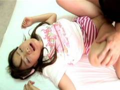Seira Takahashi is pluged hard and quickly